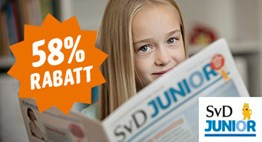 SvD Junior - 58% rabatt på provprenumeration!
